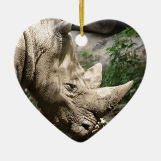 Rhino Ceramic Ornament