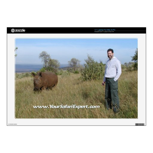 "Rhino & Charlie 17"" laptop skin"