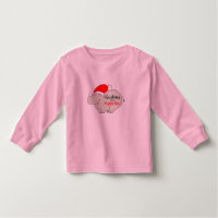 Rhino Christmas Cute Cartoon Funny Pink Girly Cool Toddler T-shirt