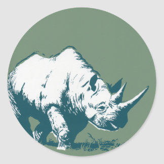 Rhino Classic Round Sticker