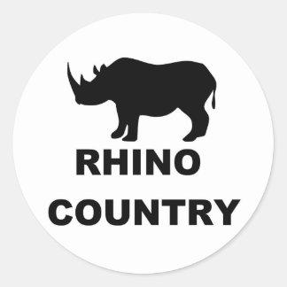 Rhino Country Classic Round Sticker