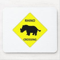 Rhino Crossing Mouse Pad