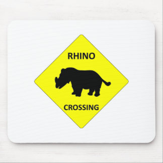 Rhino Crossing Mouse Pad