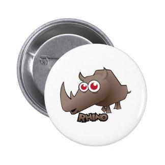 Rhino Cute Pinback Button