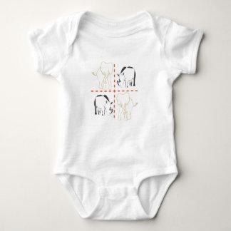 Rhino/Elephant Baby Bodysuit