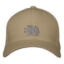 Rhino Embroidered Baseball Hat