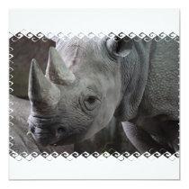Rhino Facts Invitations