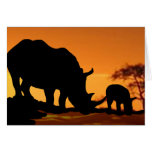 rhino family greeting card