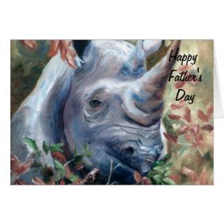 Rhino Father's Day Card
