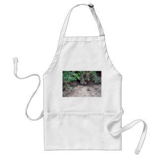 rhino foot on sand under tree adult apron