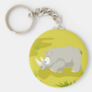 Rhino from my world animals serie keychain