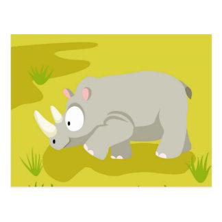 Rhino from my world animals serie postcard