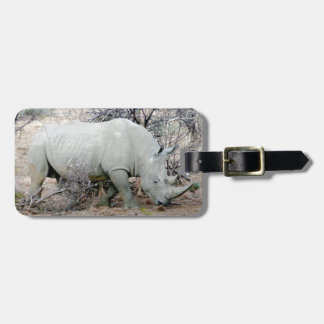 Rhino from South Africa Bag Tag