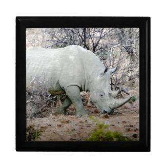 Rhino from South Africa Keepsake Box