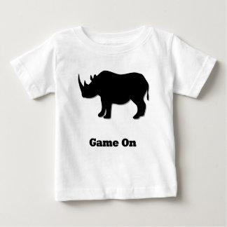 Rhino Game On black Baby T-Shirt