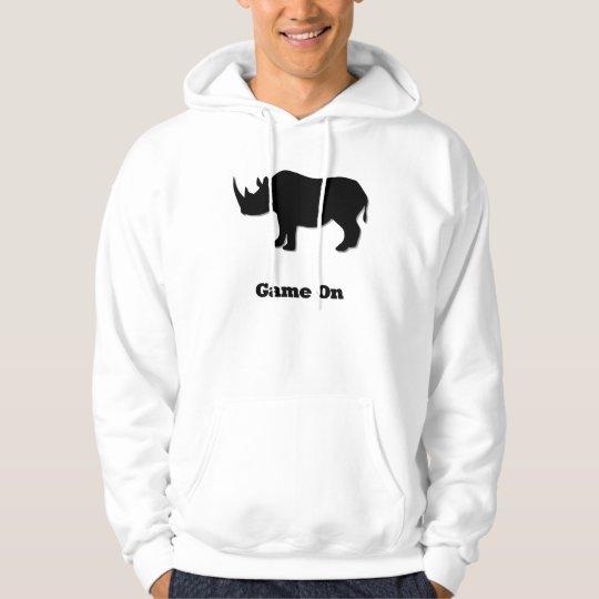 Rhino Game On black Hoodie