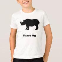 Rhino Game On black T-Shirt