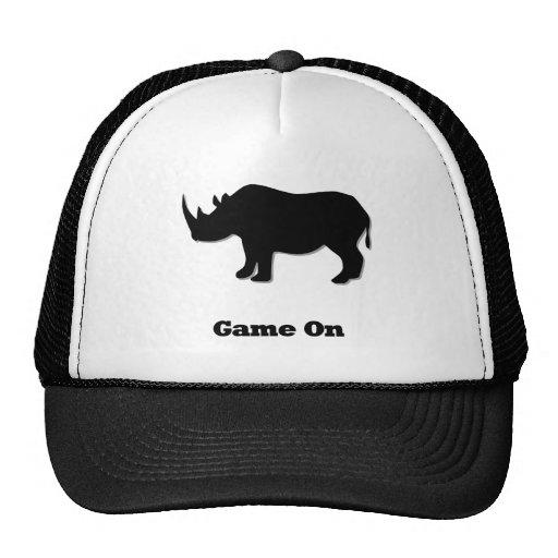Rhino Game On black Trucker Hat