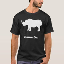 Rhino Game On white T-Shirt