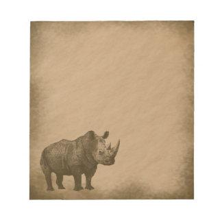 Rhino-grunge Note Pad