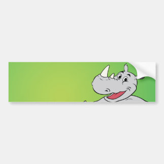 Rhino head car bumper sticker