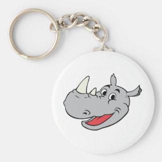 Rhino head keychain