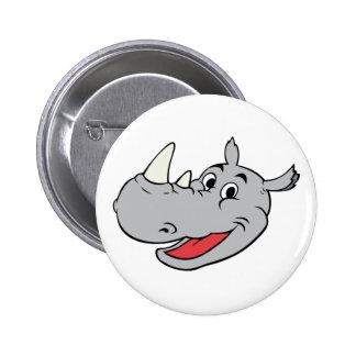 Rhino head pinback buttons