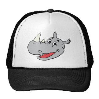 Rhino head trucker hat