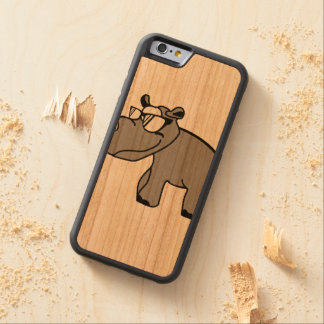 Rhino hipster cool animal designs carved® cherry iPhone 6 bumper case