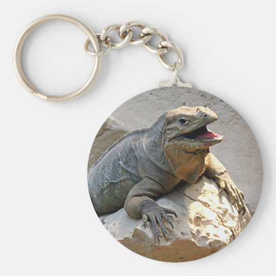 Rhino Iguana Keychain