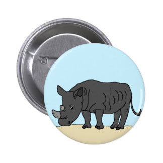 Rhino in the Savanna Button