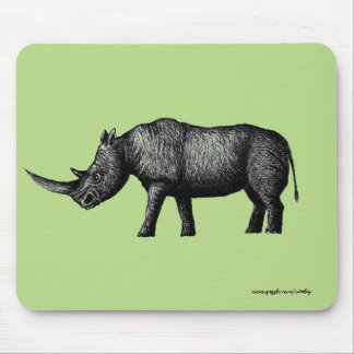 Rhino ink pen drawing art mouse pad