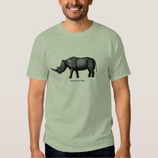 Rhino ink pen drawing art tshirt design