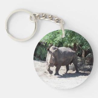 Rhino Key Ring Keychain