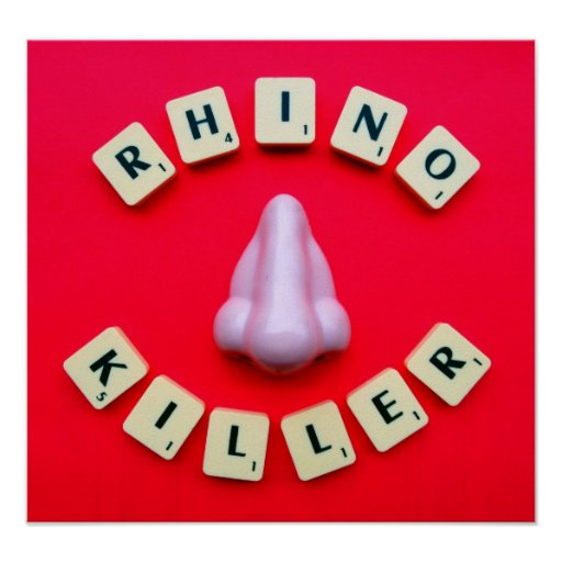 Rhino Killer in Red Print