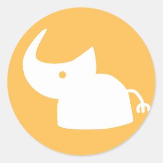 Rhino Logo Classic Round Sticker