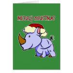 Rhino Merry Christmas Greeting Card