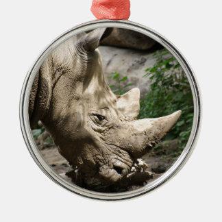 Rhino Metal Ornament