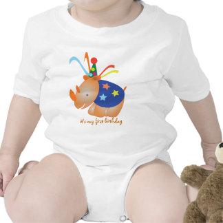 Rhino: my first birthday t-shirt