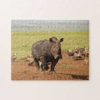 Rhino on a Mission. Jigsaw Puzzle