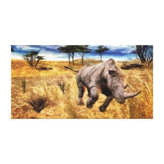 Rhino on the Sarengeti Canvas Print