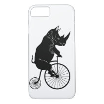 Rhino on Vintage Bike iPhone 8/7 Case