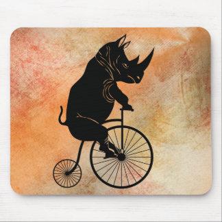 Rhino on Vintage Bike Mouse Pad