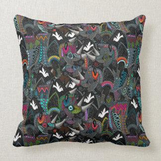 rhino party throw pillow
