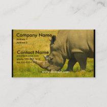 Rhino Photo Business Card