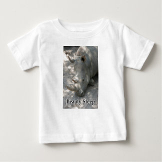 "Rhino photograph with ""Beauty Sleep"" text Baby T-Shirt"