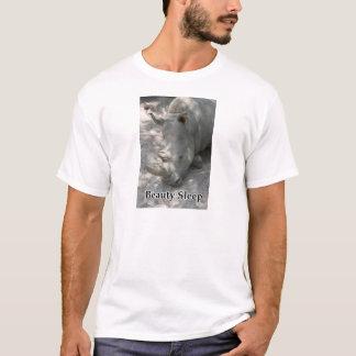 "Rhino photograph with ""Beauty Sleep"" text T-Shirt"