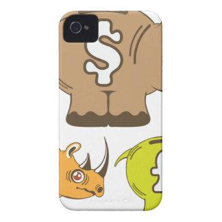 Rhino Piggy Bank vector iPhone 4 Case-Mate Case