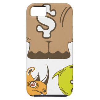 Rhino Piggy Bank vector iPhone SE/5/5s Case