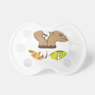 Rhino Piggy Bank vector Pacifier